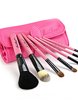 High-Grade Pu Bag 7Pcs Animal Wool Makeup Brush Sets