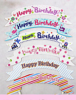 Birthday Party Tableware-100Piece/Set Cake Accessories Tag Hard Card Paper Rustic Theme Other Non-personalised