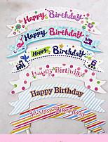 Geburtstag Party-Geschirr 100Stück / Set Kuchen Accessoires Hartkartonpapier rustikales Theme Other Nicht-individualisiert Mehrfarbig