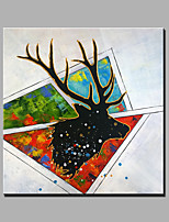 Single Modern Abstract Pure Hand Draw Ready To Hang Decorative The Deer  Oil Painting