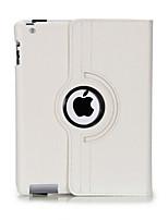 cuir PU durable flip-ouvert boîtier de corps complet avec rotation de 360 degrés pour iPad 2/3/4