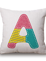 Cotton/Linen Pillow Cover,Novelty / Textured / Quotes & Sayings Accent/Decorative / Modern/Contemporary / Casual