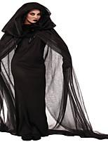 Costumes Sorcier Halloween Noir / Rouge & noir Couleur Pleine / Lace N/C Jupe / Gants / Cape