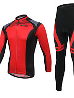 Men's Cycling Clothing Sets New Fashion Red sickle Styles Pattern Bicycle Sports Comfortable Long  Cycling Jersey 1 Set