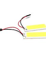 2pcs Car Accessories 36 led SMD COB LED Car Panel light Interior Room Dome Car Light Bulb Lamp White(DC12V)