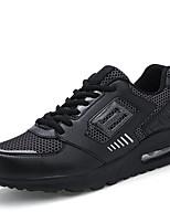 Hombre-Tacón Plano-Confort-Zapatillas de deporte-Exterior / Casual / Deporte-Tul-Negro / Rojo / Blanco