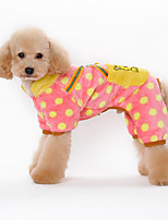 Dog Hoodie Black / Pink / Yellow / Orange Winter / Spring/Fall Solid / Polka Dots Casual/Daily Dog Clothes