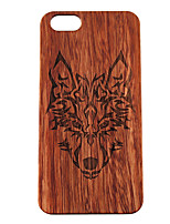 Para Funda iPhone 5 Carcasa Funda Diseños En Relieve Cubierta Trasera Funda Animal Dura Madera paraiPhone 7 Plus iPhone 7 iPhone 6s Plus