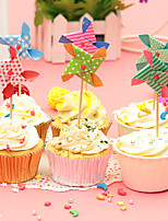 Birthday Party Tableware-6Piece/Set Cake Accessories Tag Card Paper Other Non-personalised Multi Color