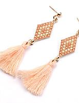 New 2016 Charm Bohemian Vintage Geometric Long Tassel Earrings For Women Statement Dangle Earrings Jewelry