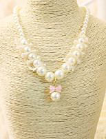 Girls Necklace,All Seasons Others / Roman Knit White