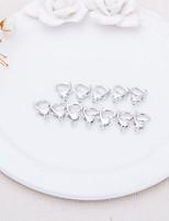 DIY Jewelry Sweet Heart Silver Pendant Lock