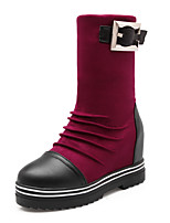 Women's Shoes Fall / Winter Fashion Boots / Round Toe Boots Office & Career / Dress / Casual Platform Zipper /