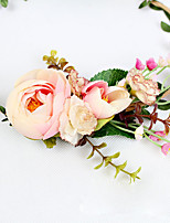 Women's Resin Headpiece-Wedding Wreaths 1 Piece Champagne Flower 50cm