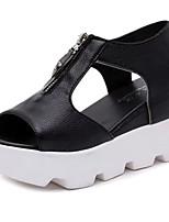 Women's Shoes PU Spring / Summer / Fall Peep Toe / Platform / Creepers Sandals Outdoor / Casual Platform Imitation Pearl