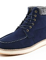 Men's Sneakers Flat/ Winter Combat Ankle Boots Suede Casual Lace-up Black / Blue / Brown Walking / Snow Boots / Others
