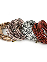 Beadia 6mm Round Faux Snake Skin PU Leather Cord (3Mts)