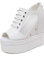 Women's Sandals Summer Sandals / Open Toe PU Casual Wedge Heel Others Black / White Others