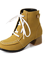 Women's Shoes   Fashion Boots Boots Outdoor / Office & Career / Casual Chunky Heel OthersBlack / Yellow