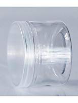 Transparent Cylinder Cookie Jar Plastic Cookie Jar Food Plastic Bottle 280ml/L8565-30 White Transparent