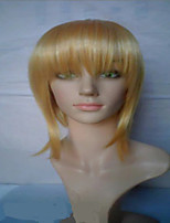 Capless Blonde Wigs Middle Long Straight  Heat Resistant Synthetic  Hair Wig  Costume Wig