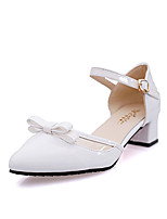 Women's Heels Summer Pointed Toe PU Casual Chunky Heel Others Black / Blue / Pink / White