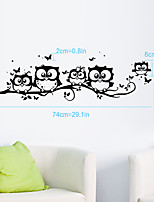 Five Owls Cartoon Animals Wall Stickers Removable Fashion DIY Living Room Bedroom Wall Decals
