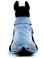 Dog Shirt Blue / Yellow Winter / Spring/Fall Bowknot / Jeans Cosplay, Dog Clothes / Dog Clothing