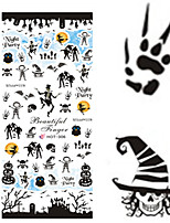 1 pcs Nail Art Water Transfer Halloween Sticker Colorful Image Nail Beauty HOT306