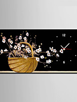 Moderno/Contemporáneo Floral/ Botánico Reloj de pared,Rectangular Lienzo 30 x 60cm(12inchx24inch)x1pcs/ 40 x 80cm(16inchx32inch)x1pcs