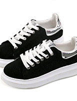 Women's Sneakers Spring / Fall Creepers Canvas Outdoor / Casual Platform Lace-up Black / Gray Sneaker