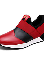 Men's Sneakers Spring / Fall Styles / Round Toe Suede / PU Casual Flat Heel Others Red / White Walking