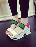 Women's Sandals Summer Sandals / Open Toe PU Casual Platform Others Black / Blue / Green Others