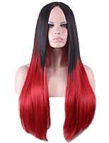 hombre de mode perruque droites longues deux gradient de tonalité deux perruque perruques synthétiques de couleur pour les femmes noires