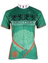 Esportivo Ciclismo Blusas Mulheres Moto Resistente Raios Ultravioleta / Secagem Rápida / Redutor de Suor Manga Curta CoolmaxFloral /