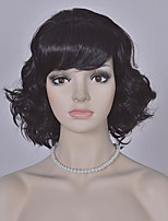 Fashion Black Short Wig European and American Wave Wigs Women Short Synthetic Wigs