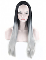 Grey Ombre Wig False Hair Synthetic Wigs For Black Women 26