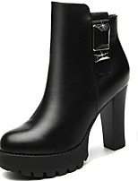 Women's Boots Spring/Fall/Winter Heels Synthetic Office & Career/Party & Evening/Casual Chunky Heel Black/Red Snow Boots