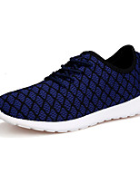 Running Shoes Men's Flats Spring / Summer / Fall Comfort Tulle Casual Flat Heel Lace-up Blue / Yellow / White / Royal Blue Others