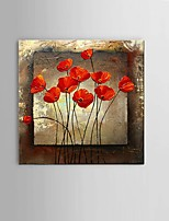 Hand-Painted Modern Thick texture Flower Oil Painting Wall Art living room Restaurant Decor With Frame Ready To Hang