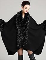 Women's Party/Cocktail Plus Size / Vintage Long Cloak / Capes,Patchwork Black Acrylic Spring / Fall / Winter