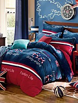 Super Soft Winter Thick Warm Flannel 4 Piece  Linen Quilt kit  Bedding Set