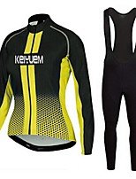 KEIYUEM®Spring/Summer/Autumn Long Sleeve Cycling Jersey+long Bib Tights Ropa Ciclismo Cycling Clothing Suits #L56