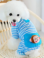 Cat / Dog Pajamas Blue / Pink / Yellow Winter / Spring/Fall Animal Holiday, Dog Clothes / Dog Clothing