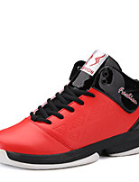 Men's Athletic Shoes Spring / Fall Comfort PU Athletic Flat Heel Lace-up Blue / Red / White Basketball