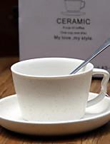 taza de café y platillos de cerámica perfumada tazas de té