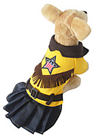 Cat / Dog Costume / Dress Yellow Winter / Spring/Fall Britsh Cosplay, Dog Clothes / Dog Clothing