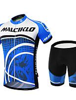 Sportif Vélo/Cyclisme Ensemble de Vêtements/Tenus Homme Manches courtesRespirable / Haute respirabilité (>15,001g) / Séchage rapide / Zip