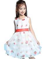 Girl's Casual/Daily Print Dress,Others Summer White