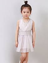 Girl's Casual/Daily Solid DressPolyester Summer Gray
